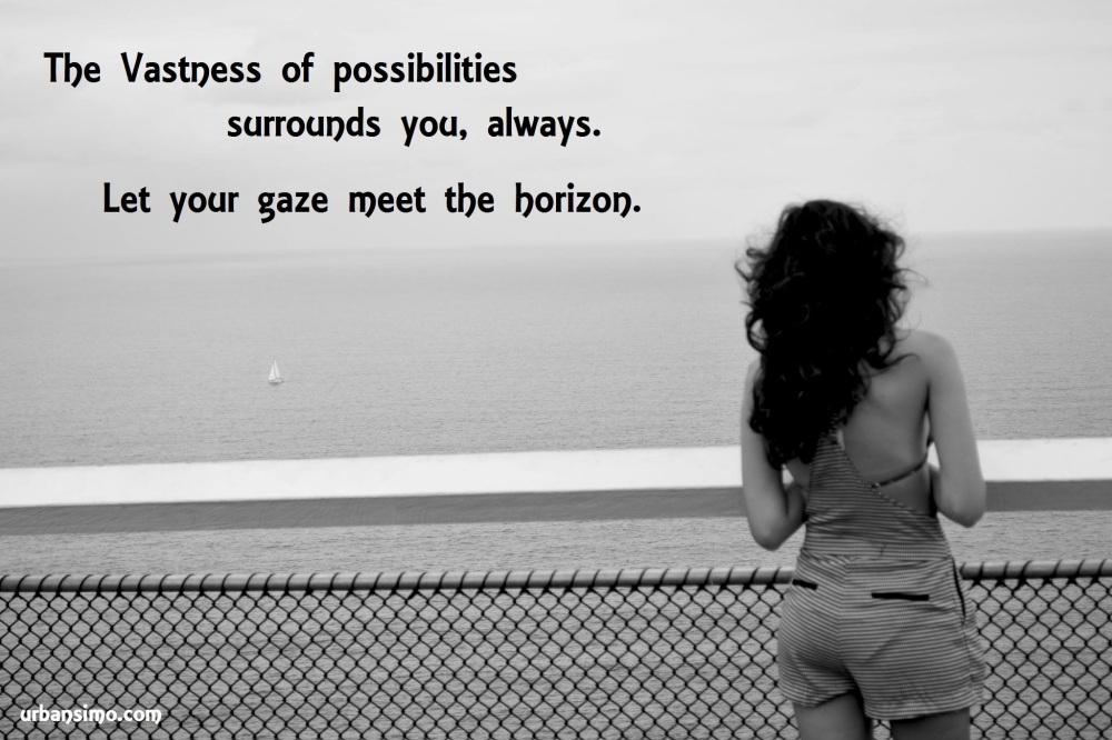 vastness of possibilities