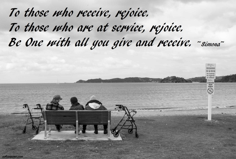 rejoice at service or when you receive